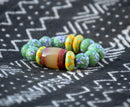 Recycled Glass Bead Bracelet - AFRIKAN ATTIRE -