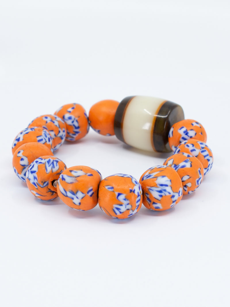 Recycled Glass Bead Bracelet - AFRIKAN ATTIRE - #african_clothing - ACCESSORIES