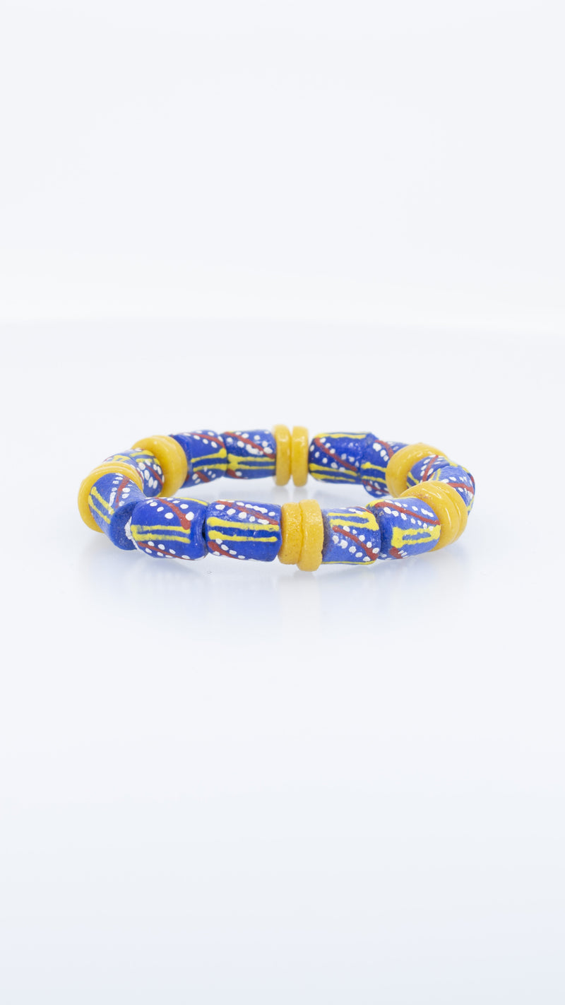 Recycled Glass Beads Bracelet - AFRIKAN ATTIRE -