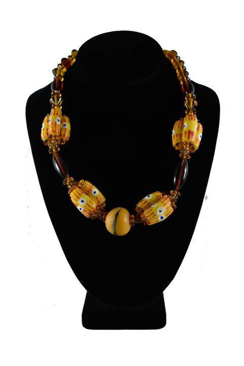 Recycled Glass Beads Ghana Krobo Bead Set - AFRIKAN ATTIRE - #african_clothing -