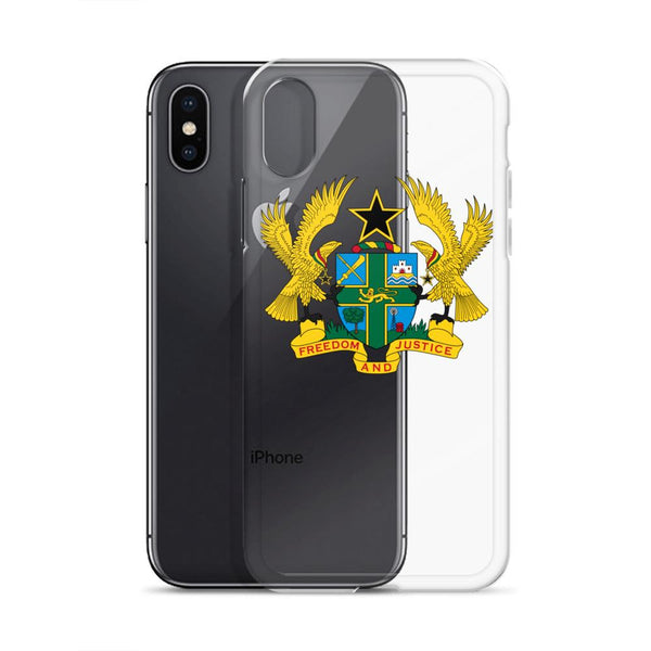 Republic of Ghana Coat of Arms iPhone Case - AFRIKAN ATTIRE - #african_clothing - PHONE CASE