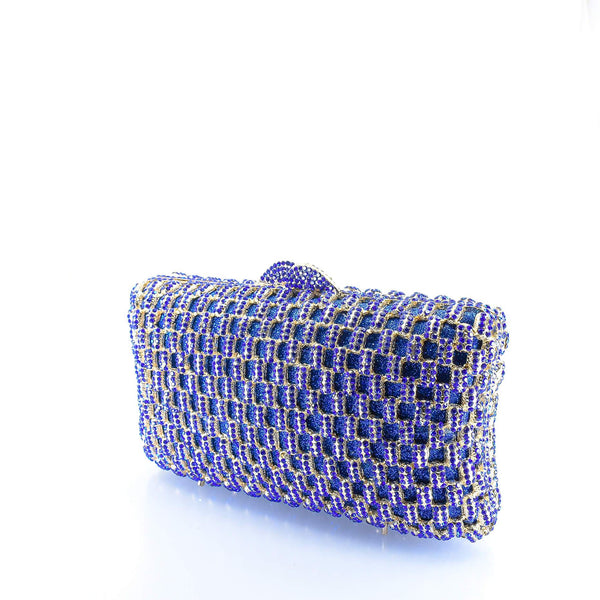 Royal Blue Clutch Purse - AFRIKAN ATTIRE - #african_clothing -