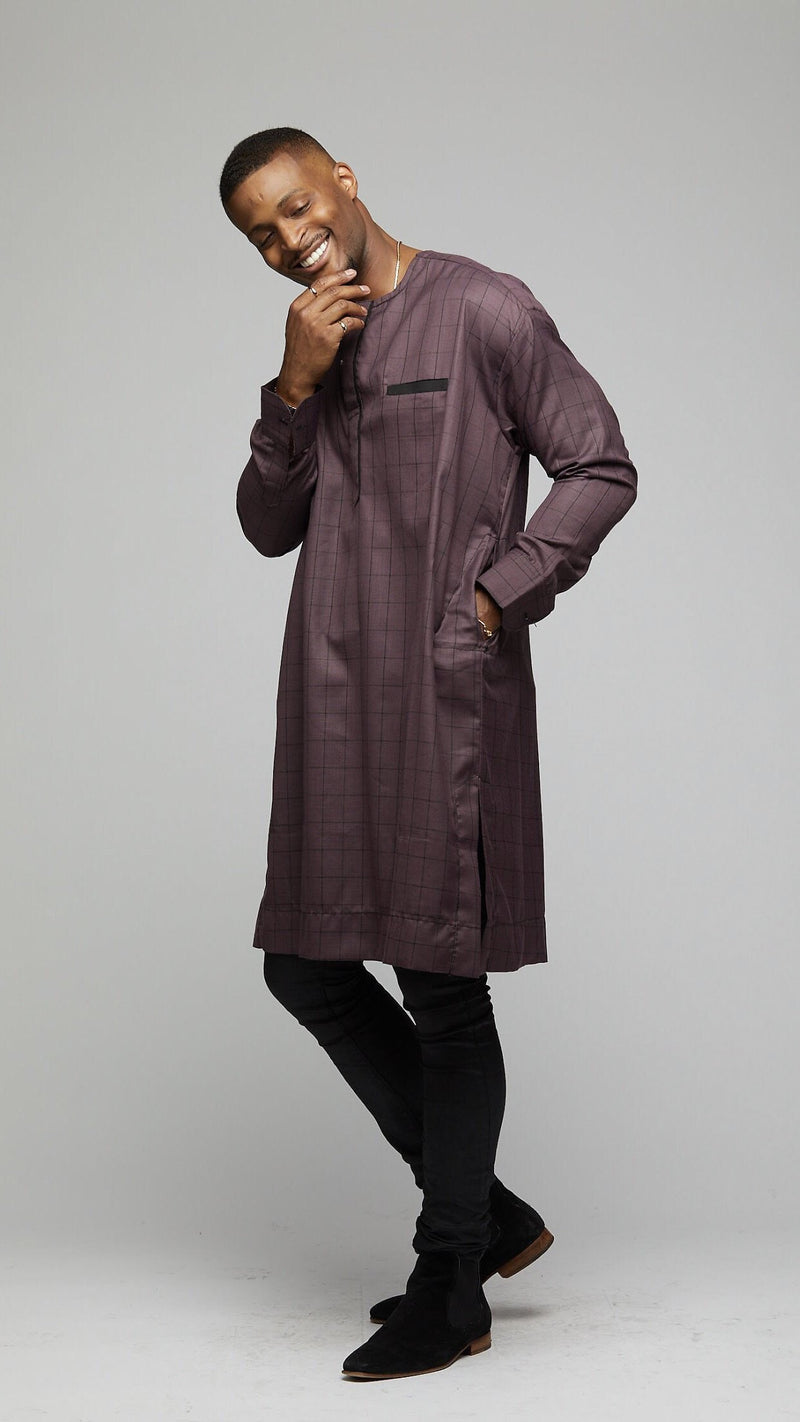 Senator Long Sleeves Shirt - AFRIKAN ATTIRE -