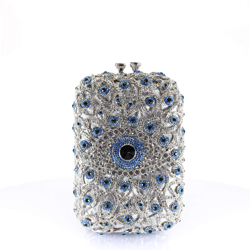 Silver All Eyes On Me Clutch Purse - AFRIKAN ATTIRE -