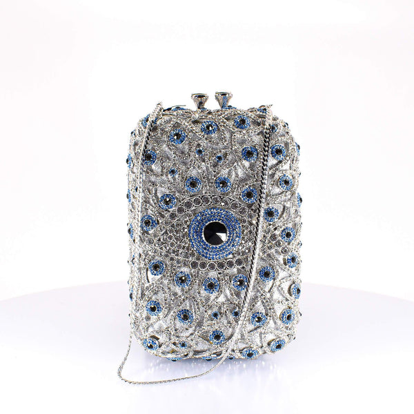 Silver All Eyes On Me Clutch Purse - AFRIKAN ATTIRE - #african_clothing -
