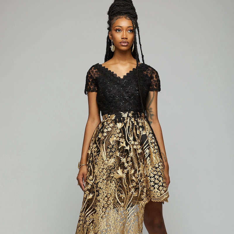 Swiss Cotton Lace Dress - AFRIKAN ATTIRE - #african_clothing -