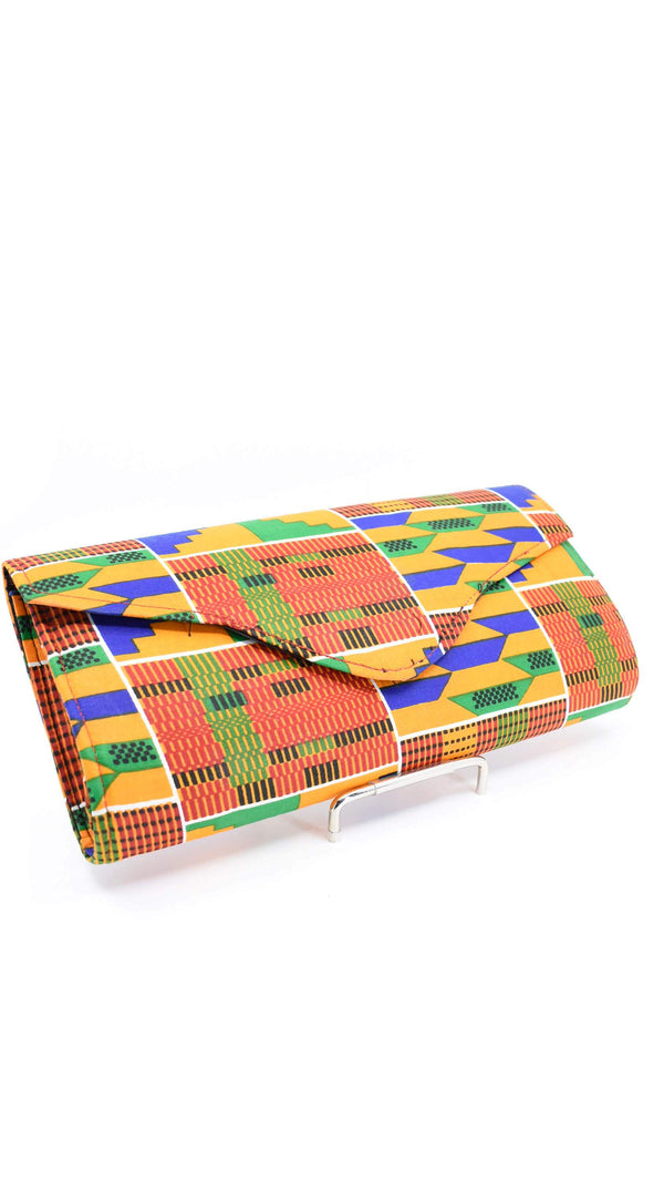 Unique Kente Print Clutch Purse - AFRIKAN ATTIRE - #african_clothing - ACCESSORIES