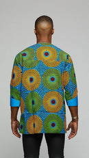 $$Vibrant Three-Quarter African Print Dashiki - AFRIKAN ATTIRE - african_clothing - Apparel - african_attireAFRIKAN ATTIRE - african_fashion