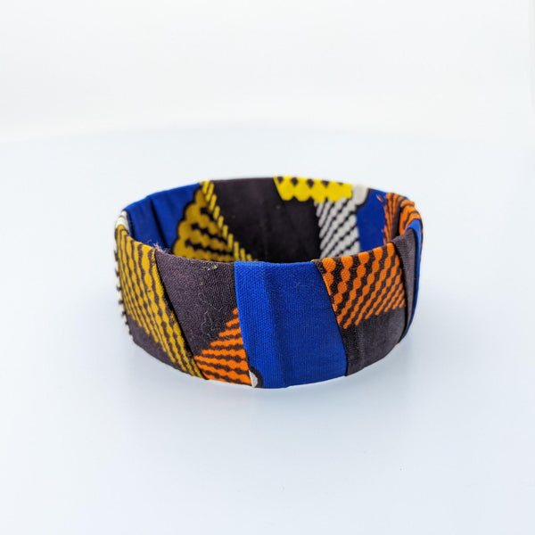 Wide Kitenge Bracelet - AFRIKAN ATTIRE - african_clothing - - african_attireAFRIKAN ATTIRE - african_fashion