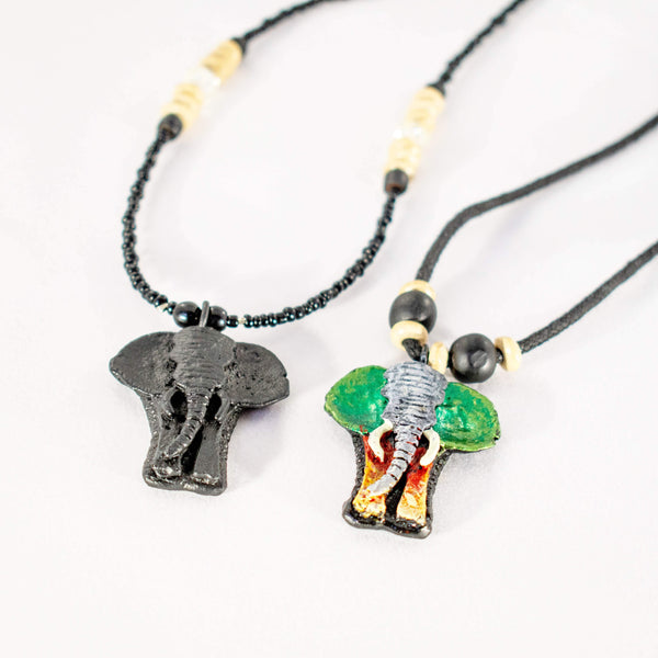 Wise Elephant Necklace - AFRIKAN ATTIRE - #african_clothing -