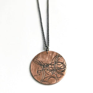 Large Copper Startrail Coin