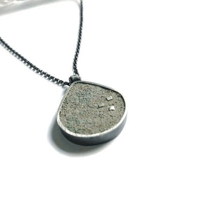 Large Cement Briolette Necklace