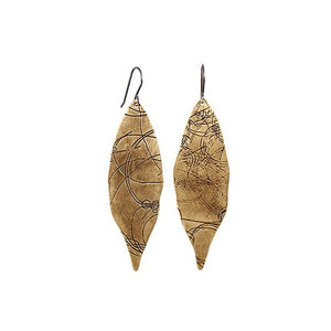 Bronze Petal Startrail Earrings