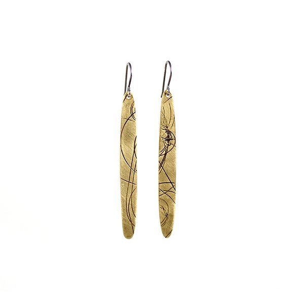 Bronze Sliver Startrail Earrings