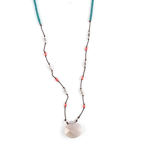 Grey onyx Frida Necklace