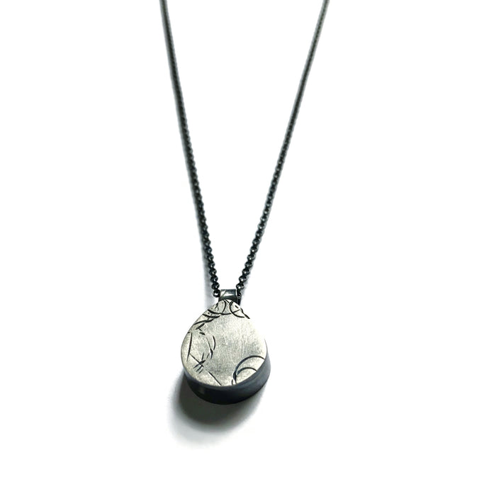 Tiny Cement + Silver Brio Necklace