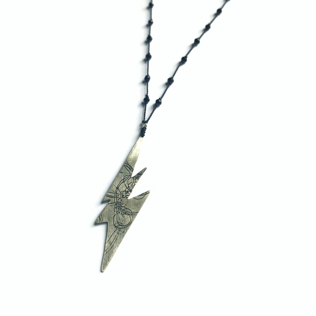 Black Lightening Elemental Necklace