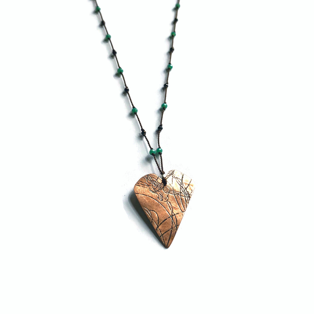 Copper Heart Elemental Necklace