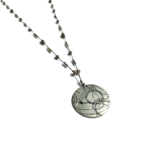 Grey Shimmer Startrail Necklace