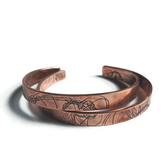 Skinny Startrail Cuff - Copper