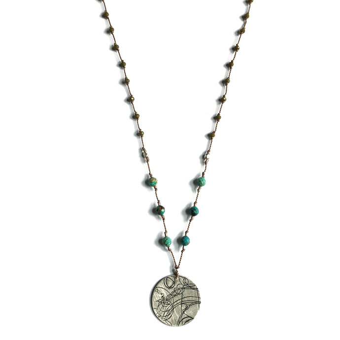 Olive + Turquoise Startrail Necklace