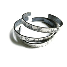 Load image into Gallery viewer, Skinny Startrail Cuff - Sterling Silver