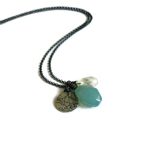 Aqua Cluster Necklace