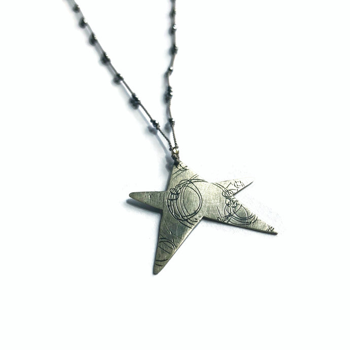 Hematite Star Elemental Necklace