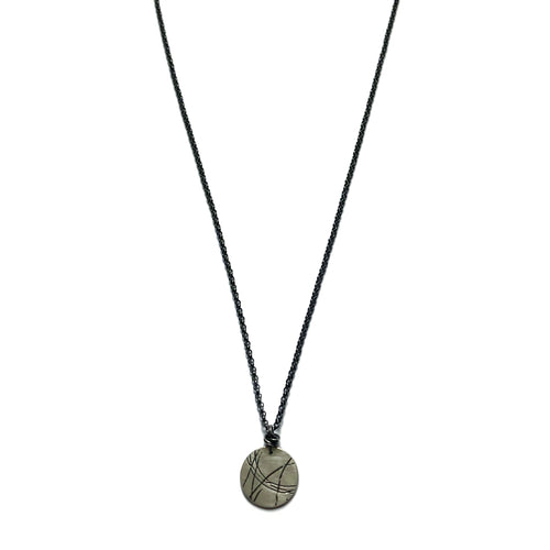 Tiny Startrail Coin Necklace