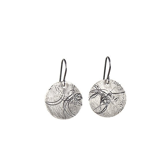Small Startrail Coin Earrings