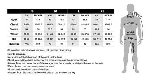 size chart apparel