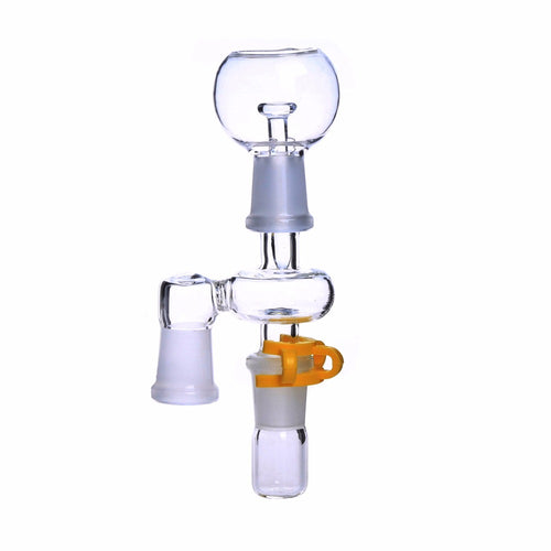 Glass Nail/ Dab 14.4mm or 18.8mm Male Female Joint Glass Adapter With Keck Clip For Glass Bong Oil Rig - shop.SWIRLonTHRU.com by GaySocialites