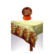 Load image into Gallery viewer, Thanksgiving Honeycomb Centerpiece and Plastic Table Cover Combo