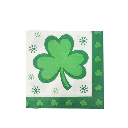 St. Patrick's Day Shamrock Disposable Paper Napkins – 32 Count