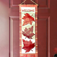 "Load image into Gallery viewer, Harvest Time Fall/Thanksgiving Hanging Banner 10"" x 30"" - 1 Piece"