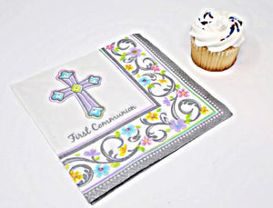 Blessed Day Communion Luncheon Napkins – 36 CT