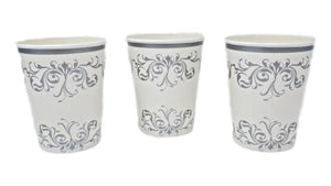 Silver Scroll 8 oz Paper Cups – 8 CT