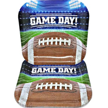 "Load image into Gallery viewer, Game Day Football Collection 9"" Square Paper Plates – 8 CT"