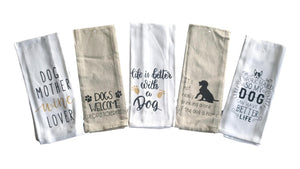 Dog Lover Pet Kitchen Towels – Set of 5