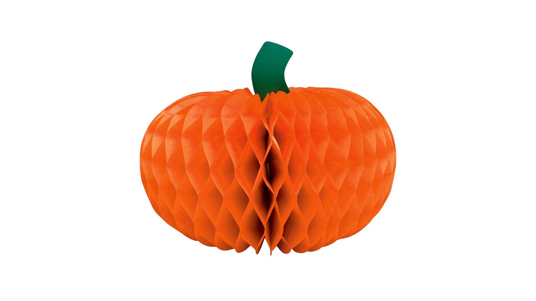"Harvest Happy Thanksgiving 6"" Pumpkin Honeycomb Centerpiece"