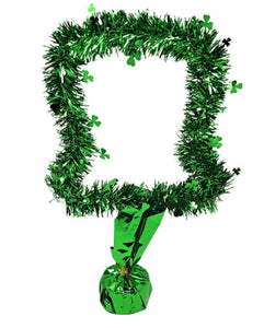 St Patrick's Day 15-inch Tinsel Leprechaun Hat Centerpiece