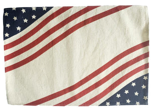 Patriotic Americana Printed Red, White and Blue Placemats – Set of 4