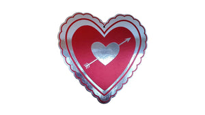 Valentine's Day Hanging Cutout Metallic Paper Decorations 5 Assorted Styles