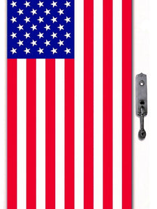 Patriotic American Flag Door Cover – 1 Piece