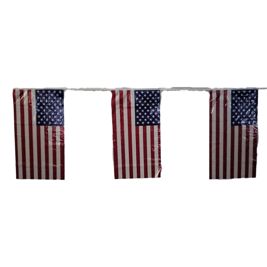 Patriotic American Flag Banner 2 Pieces