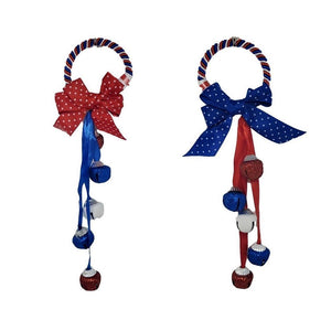 Patriotic Door Hanger with 5 bells – 2 assorted styles with bow