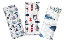 Load image into Gallery viewer, Coastal Printed Kitchen Towels – Set of 3