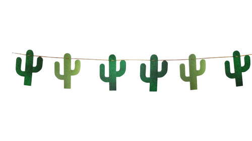 Fiesta Time Green Cactus Diamond Banner Hanging Decoration