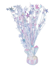 Load image into Gallery viewer, White Iridescent Star 15-inch Balloon Weight Centerpiece