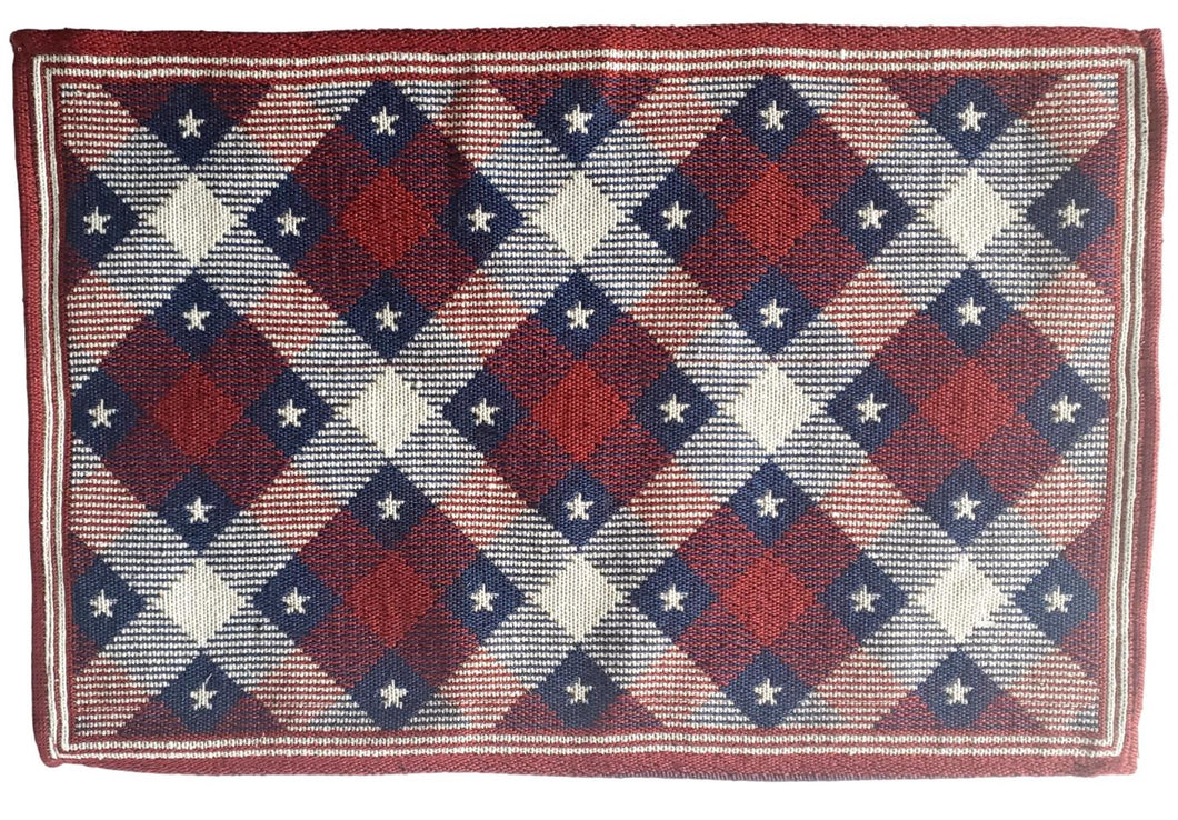 Patriotic Americana Tapestry Red, White and Blue Placemats – Set of 4